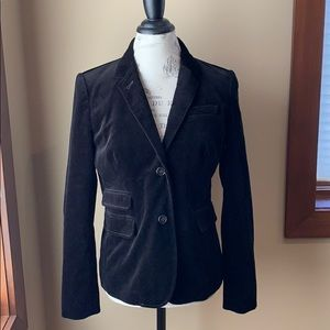 JCrew black velvet blazer! Like new! SIze 12!